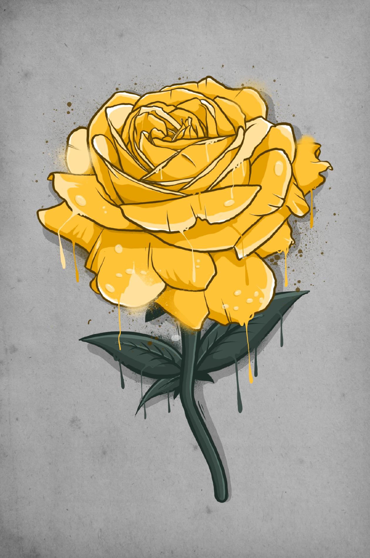 rosa groga